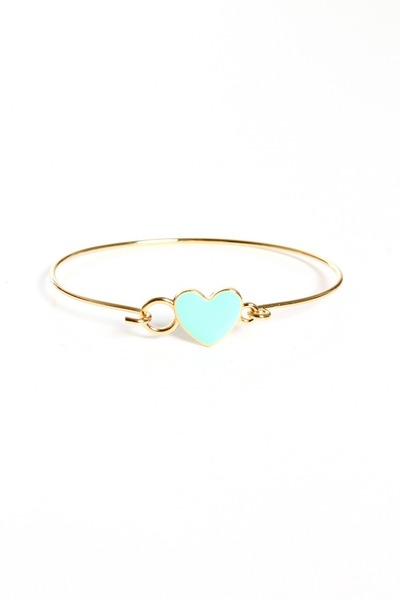 light blue heart bracelet