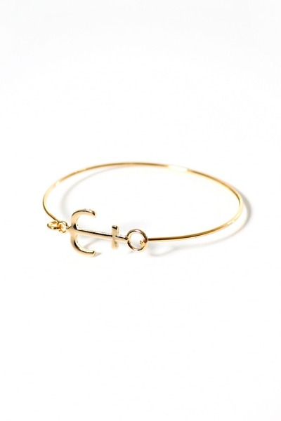 gold anchor bracelet