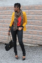 Zara blazer - Gstar pants - H&M top