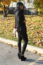 Black-zara-leggings-black-bcbg-blazer-black-ziggi-wedges