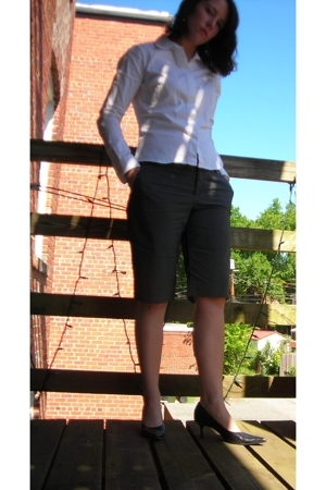 Tommy Outlet blouse - Target shorts - Nine West shoes