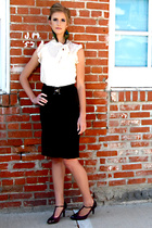 blouse - skirt - shoes - earrings