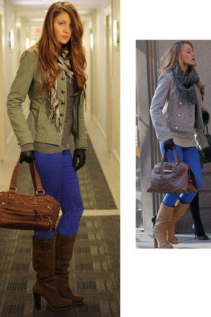 blue H&M pants - brown BCBG boots