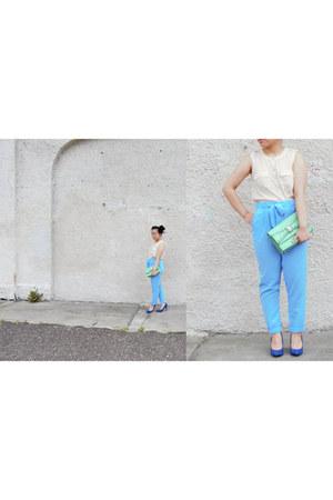 blue suede Forever 21 heels - aquamarine Urban Expressions bag