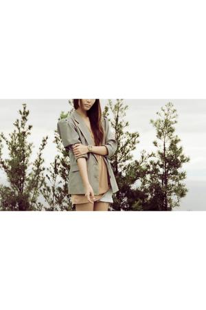 beige Vanilla Label blazer