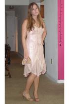 vintage dress - banana republic purse - Nina shoes - moms necklace