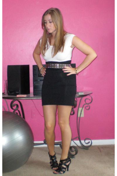 American Apparel dress - Betsey Johnson belt - gojanecom shoes