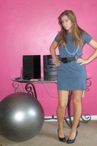 forever 21 dress - Betsey Johnson belt - Target shoes - moms necklace