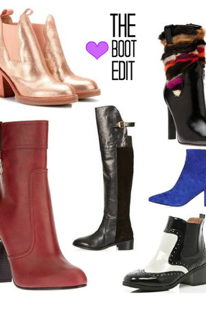 pink Acne Studios boots - colorful Jeffrey Campbell boots - blue Topshop boots