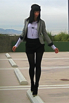 white Buffalo Exchange t-shirt - black Lux shorts - Urban Outfitters blazer - bl