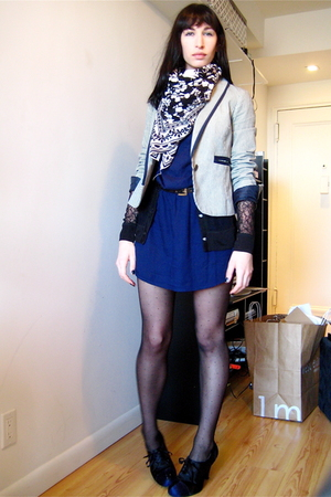 Urban Outfitters blazer - Steve Madden shoes - H&M dress - H&M scarf