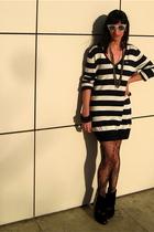 black Deena & Ozzy shoes - blue Lacoste sweater