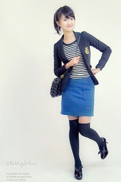 shuagirlcom jacket - shuagirlcom t-shirt - shuagirlcom skirt - shuagirlcom socks