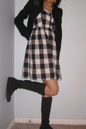 Converse shoes - Wet Seal dress - Dunno  jacket