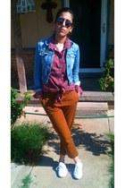 Puma shoes - cowboy Levis shirt - pants