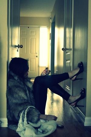 H&M coat - H&M - American Apparel shirt - Fendi purse - Nine West shoes - Burber