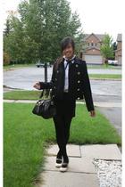 joe fresh style jacket - Roberto Cavalli for H&M shirt - American Apparel skirt