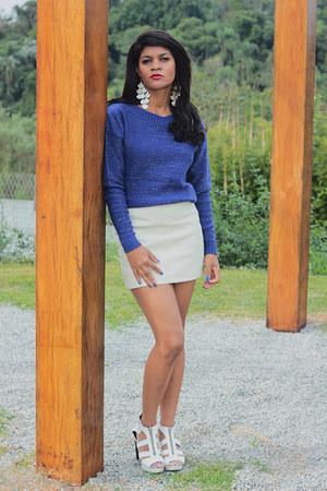 blouse blusa azul blouse