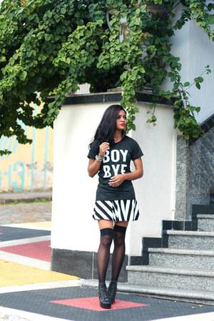 black boots sammydress boots - black boyfriend ToSave shirt