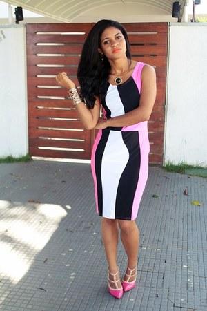 hot pink pink Dress Lily dress - hot pink shoes VESSOS shoes