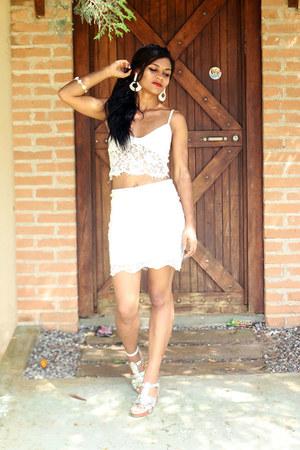 white top zaful top - white skirt CNdirect skirt