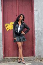 black skirt romwe skirt - black sandals Lovelywholesale sandals