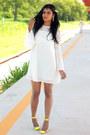 Yellow-fashion-vessos-shoes-white-dress-income-fecbek-dress