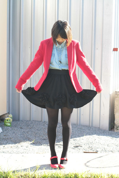 ruby red Zara blazer