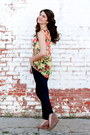 Floral-savoir-faire-blouse-savoir-faire-bag-forever-21-necklace