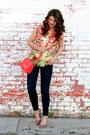 Savoir-faire-bag-forever-21-necklace-floral-savoir-faire-blouse