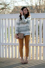 Striped-forever-21-sweater-mustard-target-pants