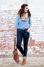 Polka-dot-target-jeans-chambray-gap-top