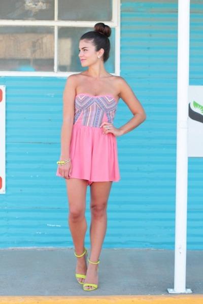 bubble gum Windsor Store romper - lime green Target heels