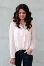 Stripe-forever-21-blouse-polka-dot-target-jeans-h-m-bag-forever-21-heels