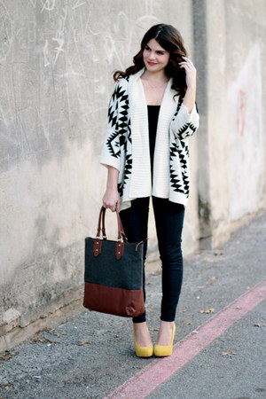 aztec The Oxford Trunk sweater - Gap jeans - Target bag