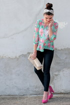 floral Forever 21 top - Gap jeans - H&M purse - ily couture necklace