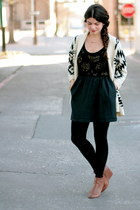 aztec The Oxford Trunk sweater - Urban Outfitters dress - Forever 21 wedges
