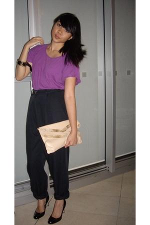 supre shirt - pants - tony bianco shoes - Sportsgirl purse - diva accessories