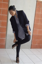 blazer - shirt - leggings - tony bianco shoes