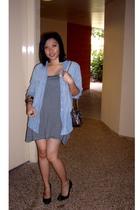 JayJays shirt - Ally dress - tony bianco shoes - purse - leggings