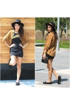 Forever 21 hat - pull&bear blouse