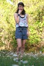 Heather-gray-american-eagle-shorts-charcoal-gray-metallic-rocket-dog-sandals-