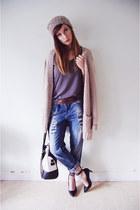 Zara jeans - Garage Clothing hat - Aldo purse - H&M cardigan - Forever 21 heels