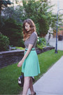 Black-american-apparel-shirt-aquamarine-american-apparel-skirt