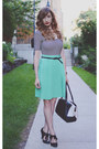 Black-american-apparel-shirt-aquamarine-american-apparel-skirt
