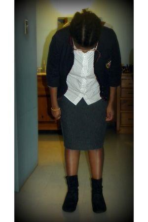 Forever21 blazer - cato skirt - Ross shirt - Rue 21 boots