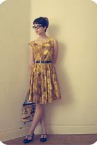 dress - hlns shoes - purse