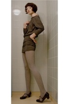weekday dress - H&M tights - shoes