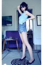 shorts - belt - Topshop blouse