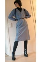 blue 80's dress M